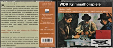 Das Triumvirat - drei Kriminalhörspiele. 3 CDs: Das Triumvirat / Das Triumvirat denkt / Das Triumvirat spinnt
