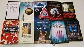 Krimipaket 10 Bücher u.a. Rauhnacht, Nachtpfade, Kalte Herzen, Chemie des Todes, Meisterschüler